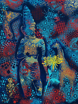 Tantra Painting - Tantric Multiverse by Paula Ferree