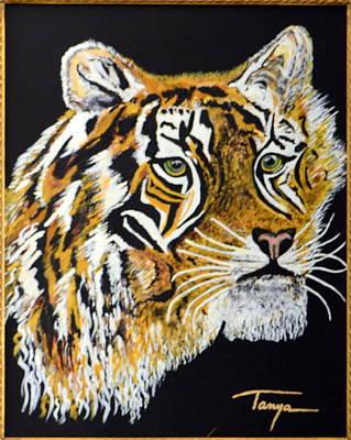 Tanyas Tiger......... Art Print by Tanya Tanski