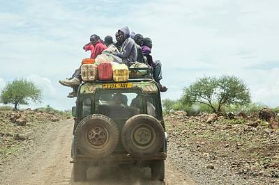 Land Rover Photograph - Tanzania Local Transport by Photostock-israel