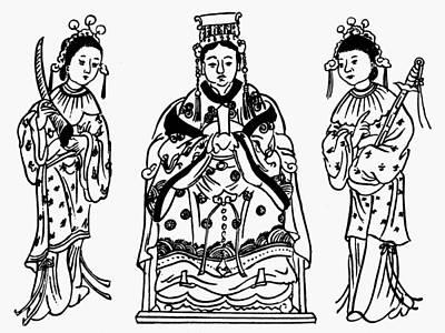 Po-po Painting - Taoism Matsu P'o by Granger