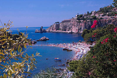 Taormina Beach Art Print