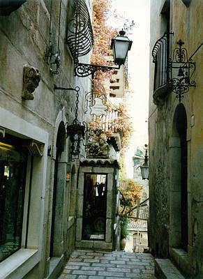 Sicily Digital Art - Taormina Sicily by Sarah Vernon