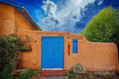 Ristra Photograph - Taos Adobe by Matt Suess