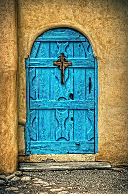 Photograph - Taos Blue Door by Ken Smith
