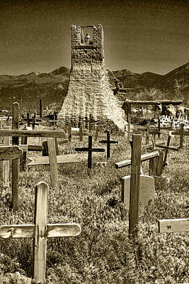 Photograph - Taos Cemetery by Wes and Dotty Weber