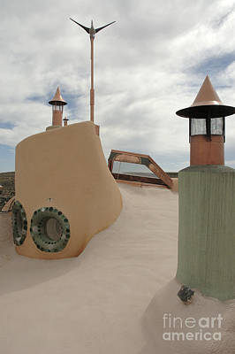 Ship Photograph - Taos Earth Ship House by Jerry McElroy