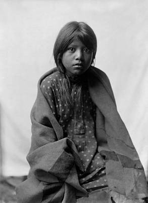 Taos New Mexico Photograph - Taos Girl Circa 1905 by Aged Pixel