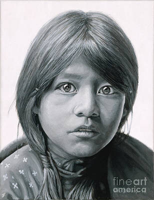 Taos Girl Art Print by Stu Braks