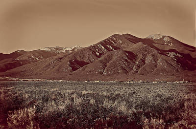 Railroad - Taos in Platinum-Palladium  by Charles Muhle