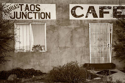 Taos Junction Cafe Art Print by Steven Bateson