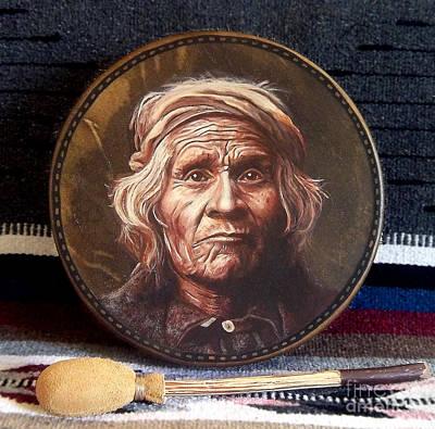 Taos Man Drum Art Print by Stu Braks