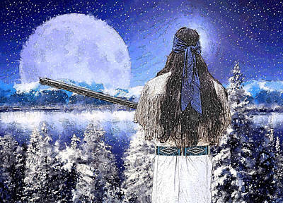 Digital Art - Taos Mountain Man by Roger D Hale