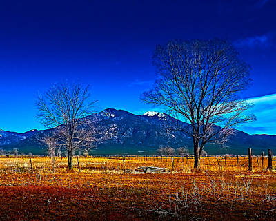 Photograph - Taos Mountain V by Charles Muhle