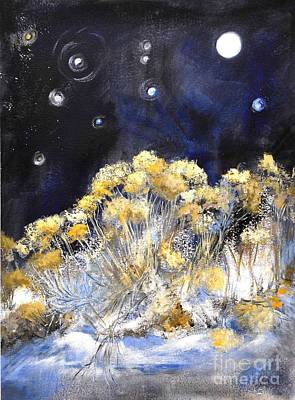Painting - Taos Night Orbs by Glory Wood