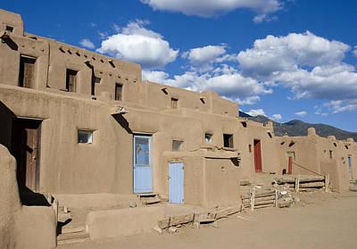 Taos Pueblo Original by Elvira Butler