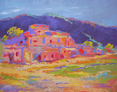 Land Of Enchantment Painting - Taos Pueblo by Judy Bess