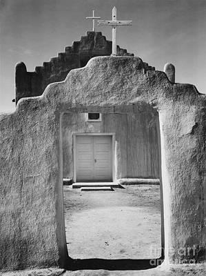 National Photograph - Taos Pueblo National Historic Landmark by Celestial Images