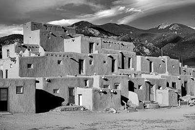 Photograph - Taos Pueblo North by Robert Meyers-Lussier