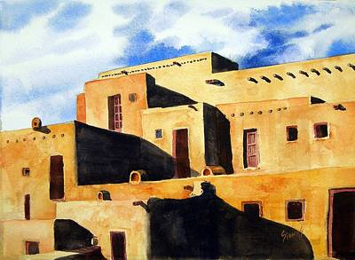 Painting - Taos Pueblo by Sam Sidders