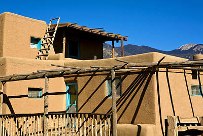 Photograph - Taos Pueblo Striking Shadows by Marilyn Hunt