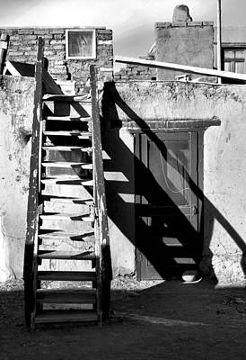 Photograph - Taos Pueblo Study 4 Bw by Robert Meyers-Lussier