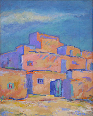 Ancient Civilization Painting - Taos Solitude by Judy Bess