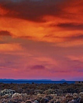 Charles-muhle Royalty-Free and Rights-Managed Images - Taos sunrise V by Charles Muhle