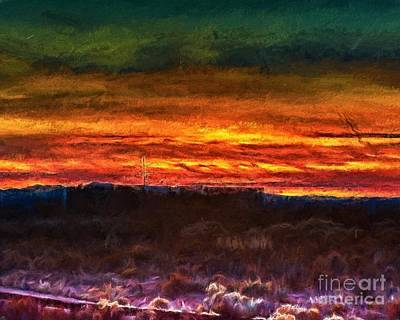 Painting - Taos Sunset Lx - Homage Turner by Charles Muhle