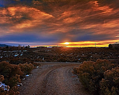 Photograph - Taos Sunset Xxviii by Charles Muhle
