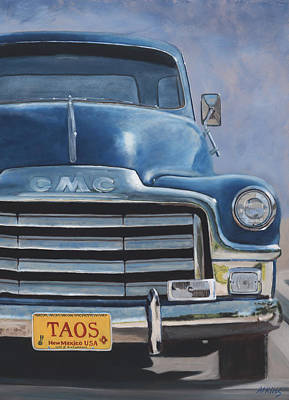 Painting - Taos Truck by Jack Atkins