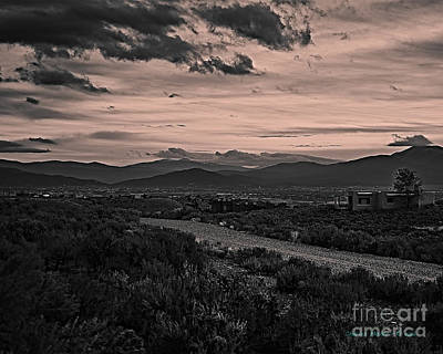 Photograph - Taos Valley At Dusk by Charles Muhle