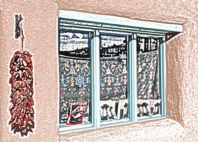 Digital Art - Taos Window by Kathleen Stephens