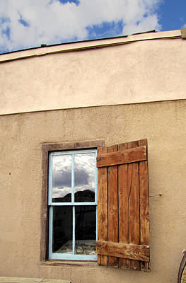 Photograph - Taos Window With Shutter by Ann Powell