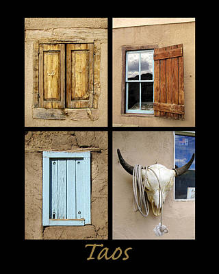 Photograph - Taos Windows  by Ann Powell