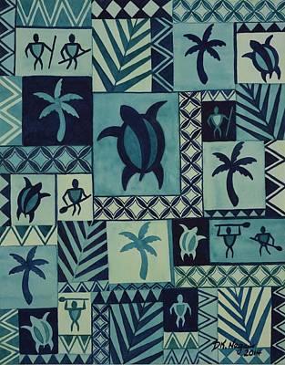 Painting - Tapa Blues by DK Nagano