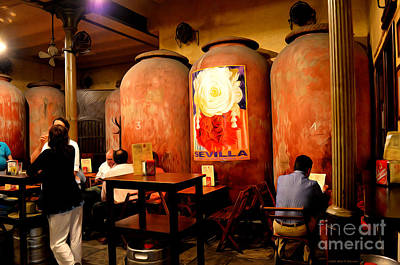 Wine Barrel Digital Art - Tapas At Casa Morales by Mary Machare