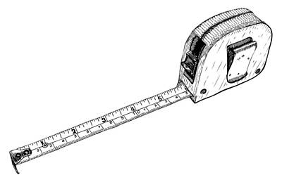 Drawing - Tape Measure by Karl Addison
