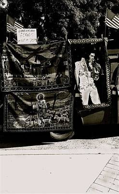 Traditional Bells Rights Managed Images - Tapestries of  Elvis Presley  Hawai concert Jesus Christ sheep horses flags Armory Park Tucson AZ Royalty-Free Image by David Lee Guss