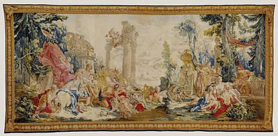 Tapestry Bacchus Et Arainne, Bacchus Changé En Raisin Art Print by Litz Collection