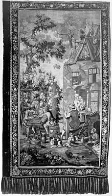 Tapestry Backgammon Art Print by Granger
