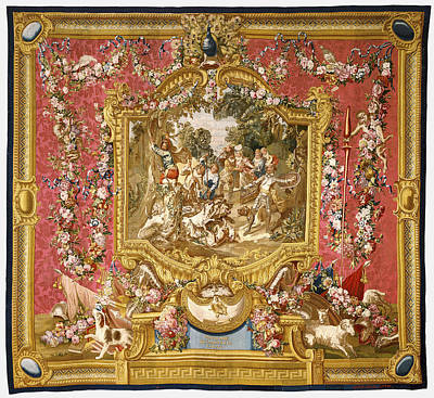 Tapestry La Poltronnerie De Sancho à La Chasse Art Print by Litz Collection