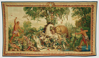 Tapestry Cartoon Painting - Tapestry Le Cheval Rayé From Les Anciennes Indes Series by Litz Collection