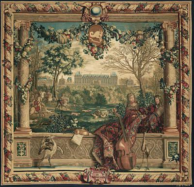 1636 Painting - Tapestry Le Mois De Décembre, Le Château De Monceaux by Litz Collection