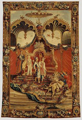 1636 Drawing - Tapestry Le Retour De La Chasse, From Lhistoire De by Litz Collection