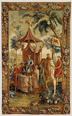 1636 Drawing - Tapestry Lempereur En Voyage, From Lhistoire De Lempereur by Litz Collection