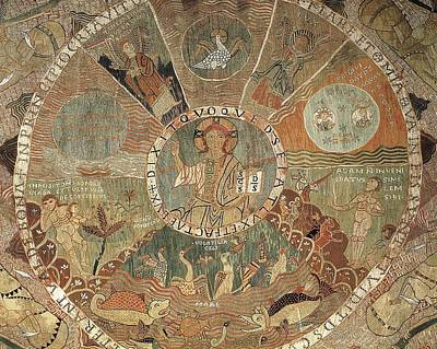 Tapestries Textiles Photograph - Tapestry Of Creation. 1st Half 12th C by Everett