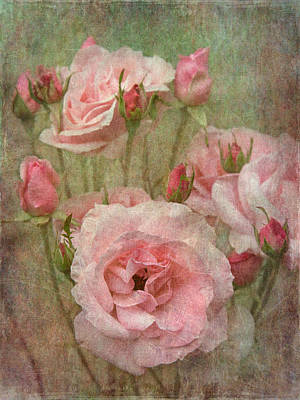 Tapestry Of Roses Art Print by Angie Vogel