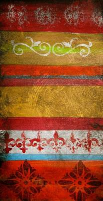 Abstract Art Painting - Tapestry Painting by Laura Carter