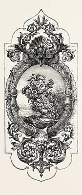 Tapestry Pattern Art Print by W. Crossley, Halifax, English, 19th Century