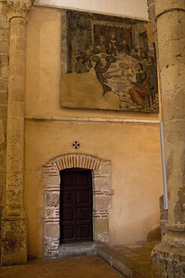 Photograph - Tapestry Wall At Church Of The True Cross by Lorraine Devon Wilke